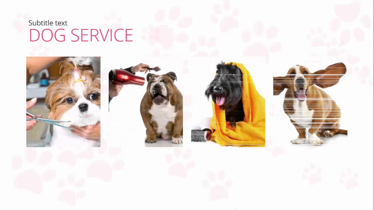 Dog Grooming Free Powerpoint Template Youtube