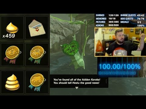 My 100+% Completion of Breath of the Wild from Live Stream | Austin John Plays