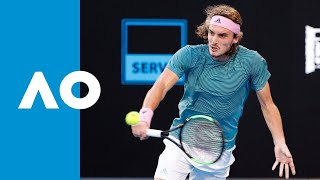 Roger Federer v Stefanos Tsitsipas third set highlights (4R) | Australian Open 2019