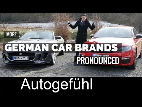 More German car brands pronounced original pronunciation RUF, Maybach, Bayerische Motoren Werke