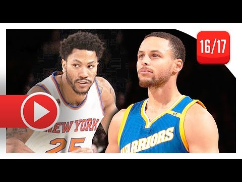Stephen Curry vs Derrick Rose PG Duel Highlights (2017.03.05) Knicks vs Warriors - SICK!
