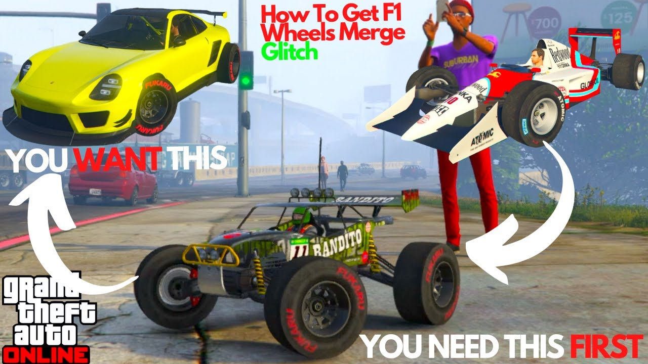 How To Get F1 Wheels Tires On Rc Car Gta Online Merge Glitch Youtube