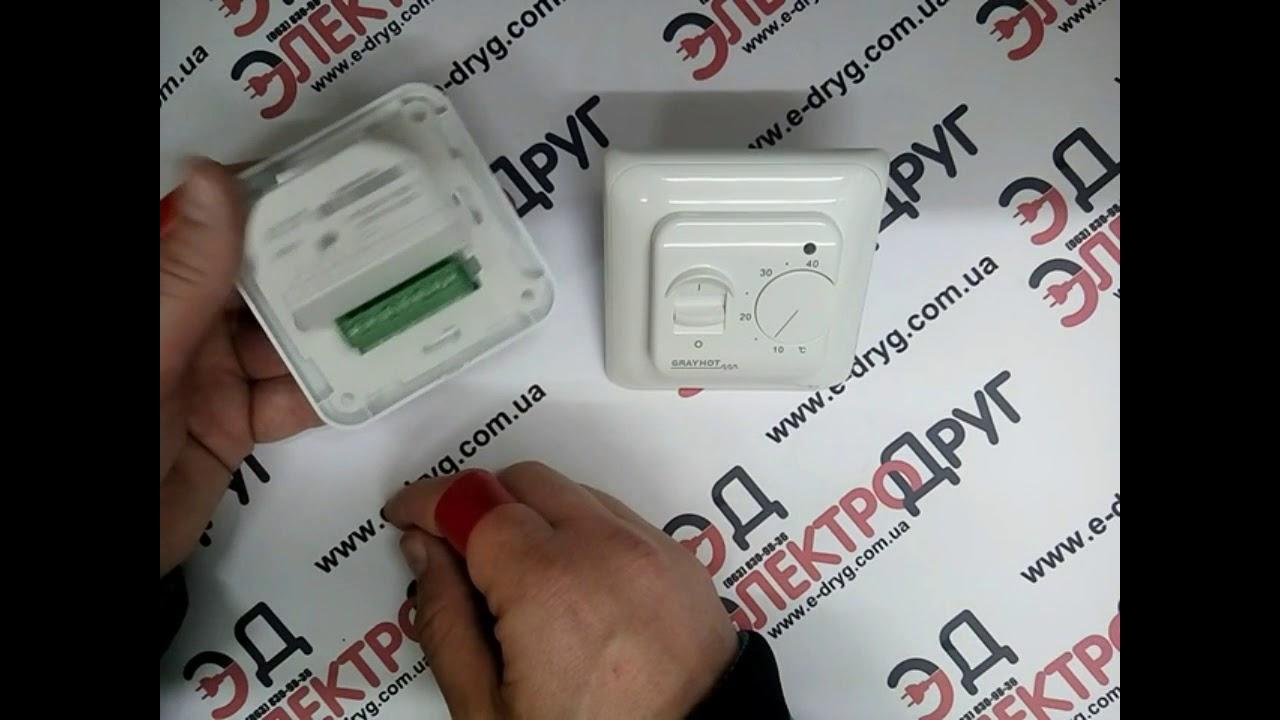 Терморегулятор Grayhot RTC70. Подключение и проверка