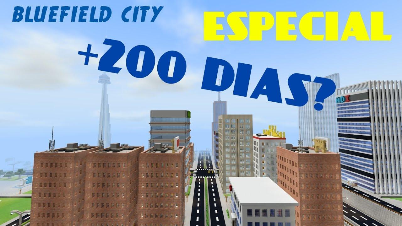 🔵BLUEFIELD CITY: CONSTRUYENDO MI CIUDAD EN MINECRAFT + 200 DIAS - DIVANJM 03