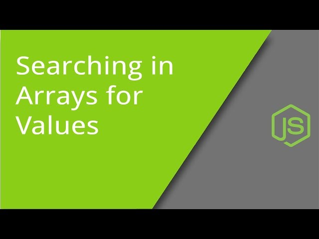 Searching in Arrays