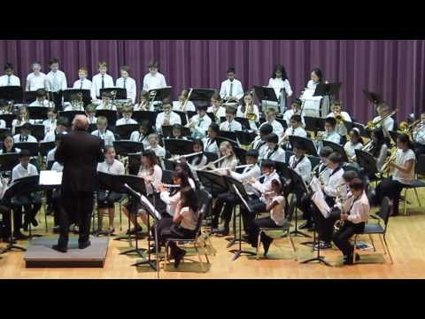 Westborough Mill Pond school 5th grade band concert on 23 May 2016