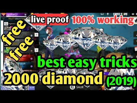 FREE FIRE free 2000 Diamond add:💎 NO HACK : no paytm: 101% Working