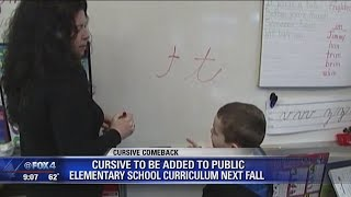 Cursive handwriting requirement returns to Texas classrooms this fall