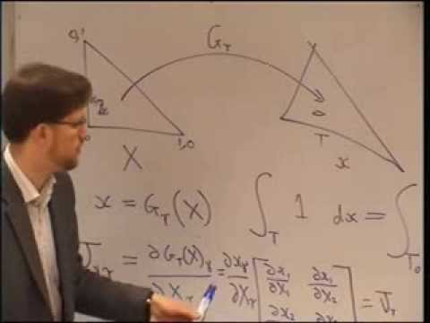 Finite element method course lecture 5 part I 7 Feb 2014 Quadrature and local assembly