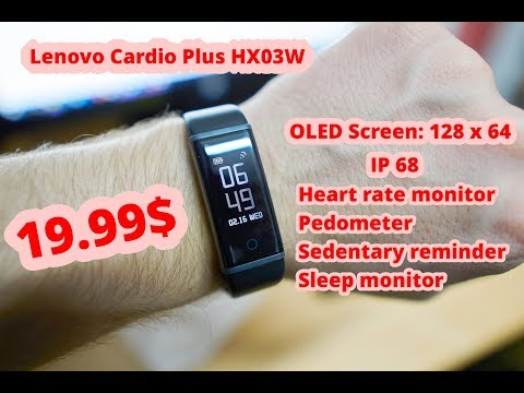 Обзор смарт браслета Lenovo Cardio Plus HX03W