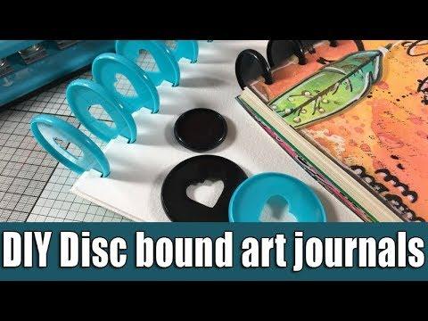 DIY disc bound art journal