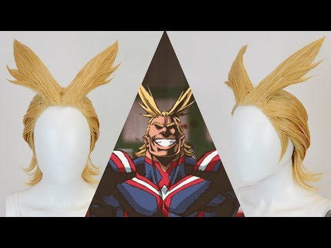All Might Wig Tutorial   How to Make Bangs Stand Up