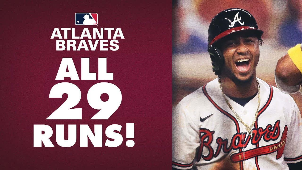 29 Runs All Runs From The Braves 29 9 Win Over The Marlins Nl Record Youtube