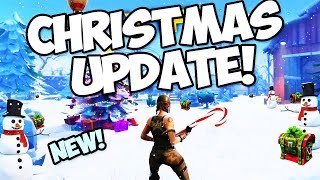 NEW FORTNITE CHRISTMAS UPDATE! - NEW SNOWBALL LAUNCHER, SKINS, AND MORE! (Fortnite Battle Royale)