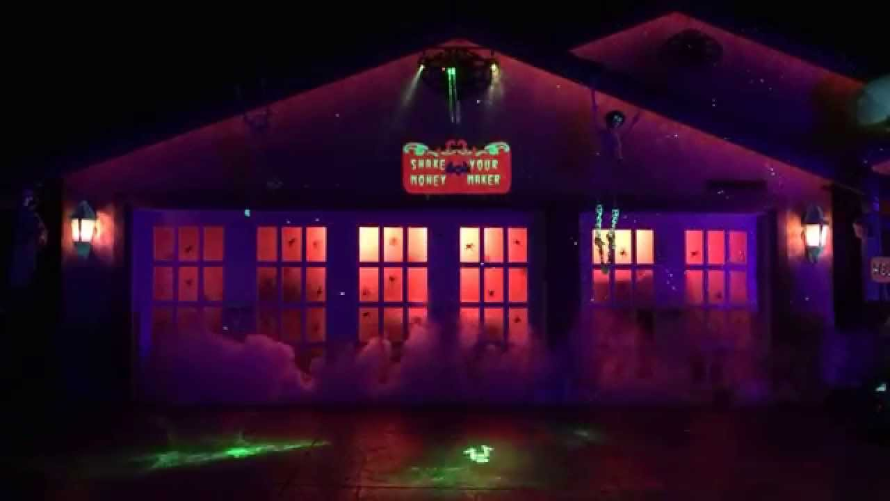 halloween decorations lasers fog neon party