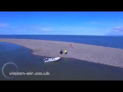 """The NEW """"island"""" that is forming off Fleetwoods coast Lancashire DJI Inpire2"""