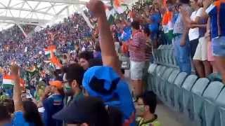 India vs Pakistan WC 2015 - Indian Fans Singing National Anthem
