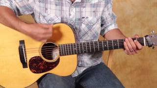 Easy Beginner Guitar Lesson on Acoustic Guitar - Strum Patterns for Beginners - Rhythm