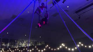 Vaudevillian trapeze duo at Bethany Church Daddy Daughter Date Night