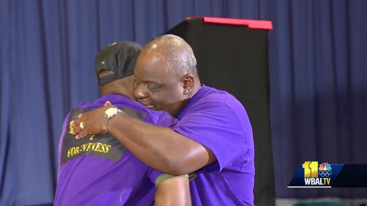 Convicted killer, victim's brother demonstrate forgiveness to combat violence