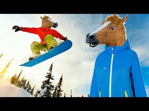 Snow Horse | Лошадь на сноуборде | Упоротые Игры