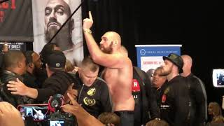 Deontay Wilder vs Tyson Fury FACE OFF BLOWS UP!  DISASTER AGAIN!!!