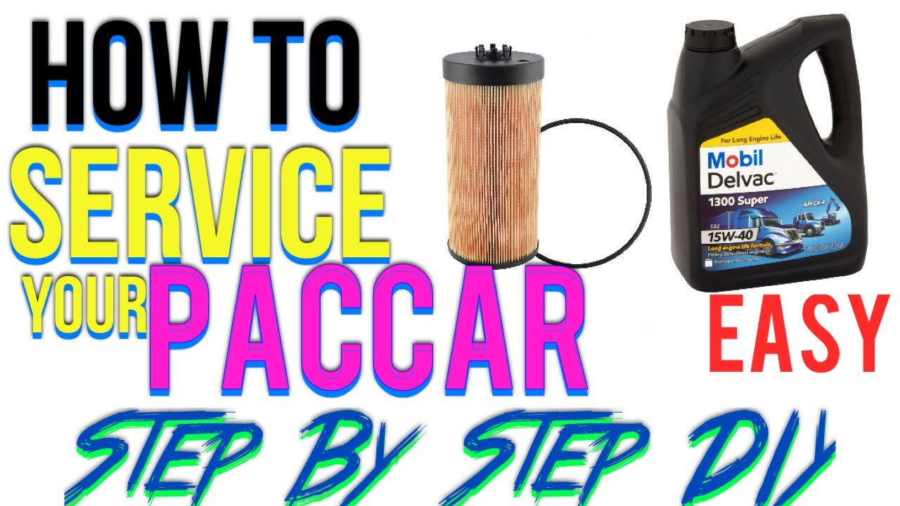 How We Do A Full Service On Paccar Engine Youtube Fuel Filters