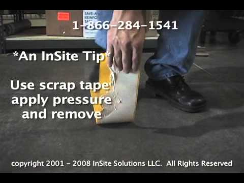 How To Remove Floor Tape By Hand Youtube