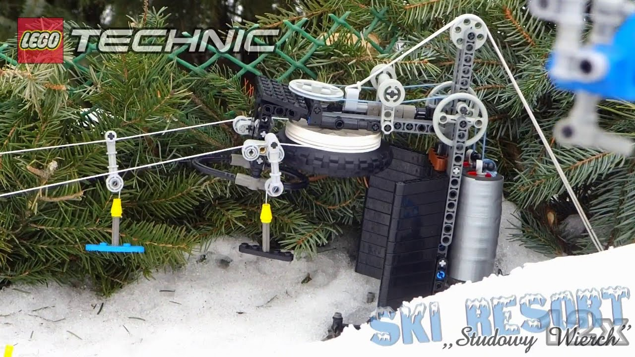 Lego Ski Resort T Bar Skilift Youtube