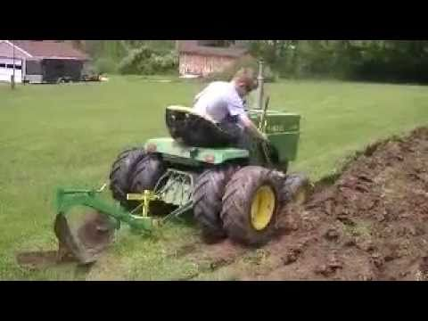 garden tractor plowing YouTube