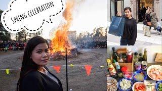 Vlog #2   ซื้อของเข้าบ้าน, ก่อกองไฟต้อนรับฤดูใบไม้ผลิ,ทำต้มข่าไก่   Vlog & So on