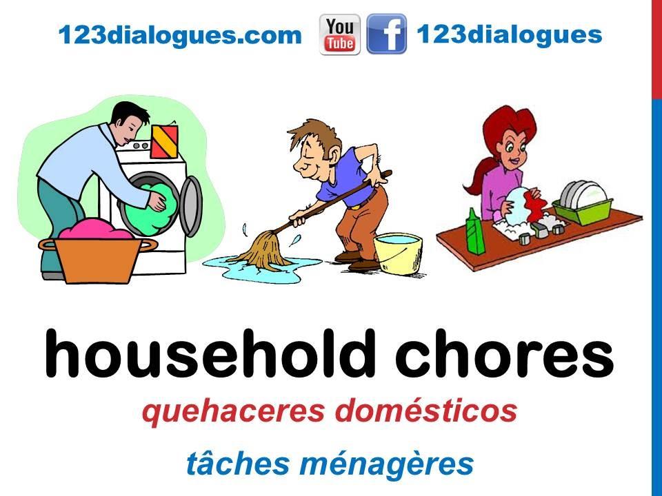 Curso de inglés 50 - Quehaceres del hogar en inglés Tareas de la ...