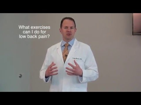 Dr. Morton explains best exercises you can do for low back pain?