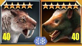 SMILODON Vs MARSUPIAL LION - Jurassic World The Game