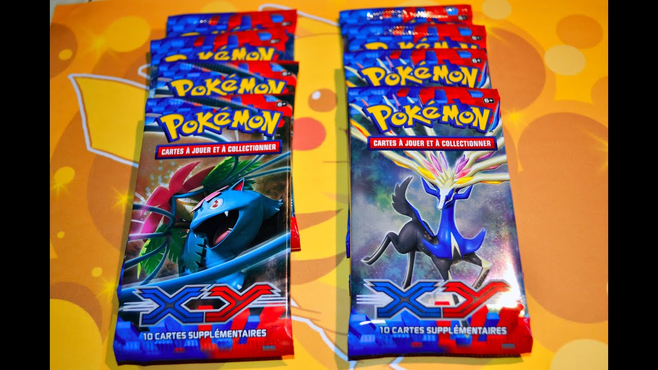 Avant premi re ouverture de 8 boosters pok mon xy - Evolution pokemon legendaire ...