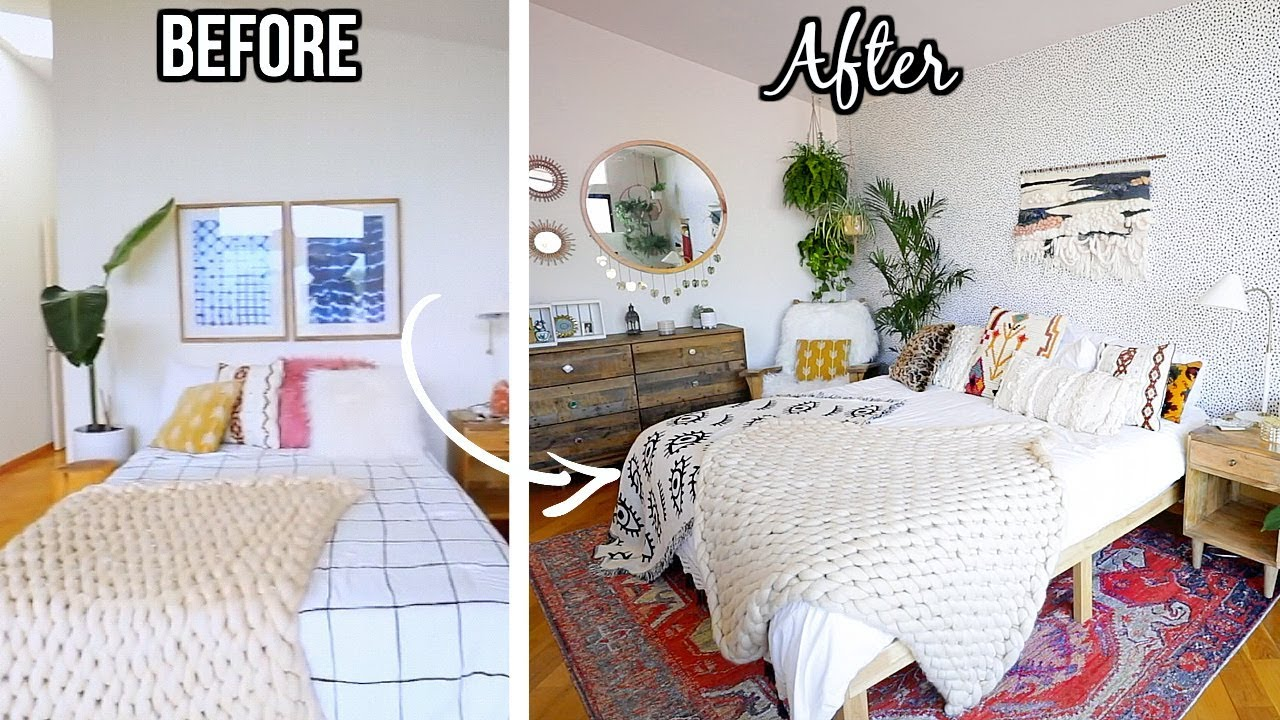 Room Makeover And A Box Bed: BOHO BEDROOM MAKEOVER!