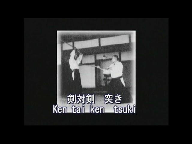 AIKIKEN  O'Sensei Morihei Ueshiba and Morihiro Saito ken no awase