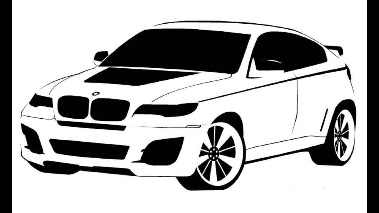 how to draw a bmw x6 Как на�и�ова�� bmw x6 youtube