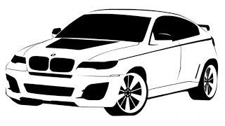 How to Draw a BMW X6 / Как нарисовать BMW X6