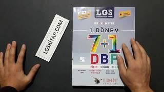 Limit Yayınları 8.Sınıf LGS 1.dönem 7+1 DBS Ders Bitirme Fasikülleri