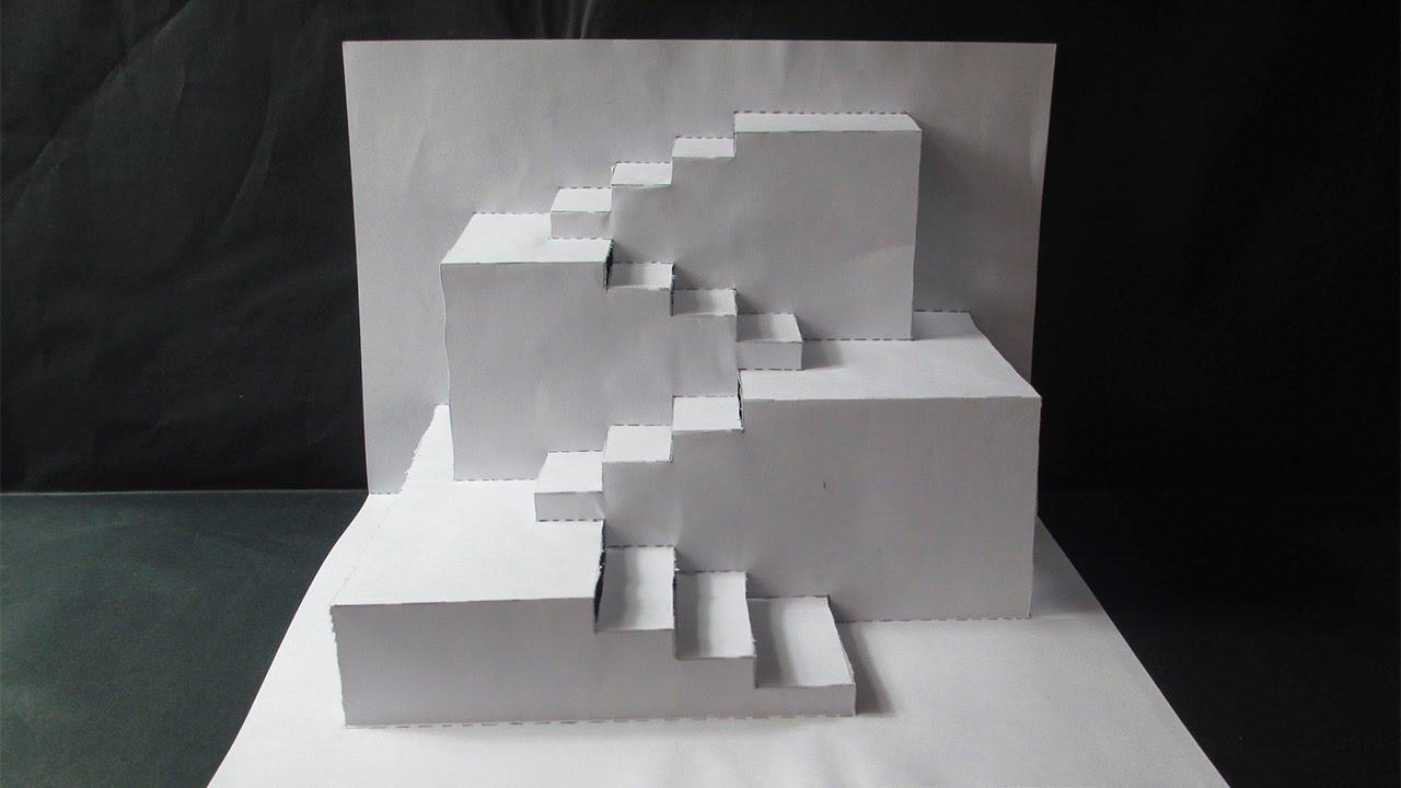 Increible dise o 3d en papel youtube - Como hacer blanco roto ...