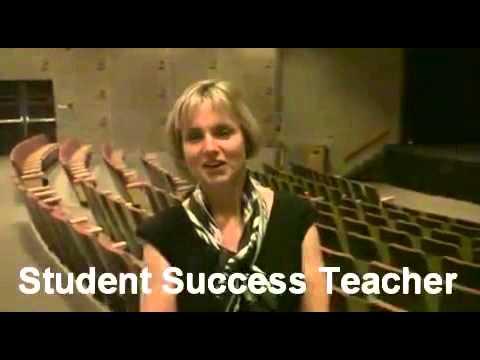 Teacher Judy Vandenberg after a presentation by ESTEEM Team