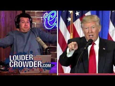 Trump Slams 'Fake News' CNN!   Louder With Crowder
