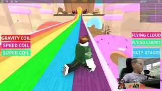 "UK Ninja Boy plays the new Roblox Obby . . . ""Escape CandyLand"""