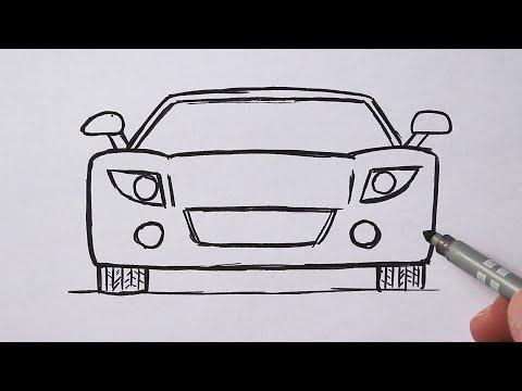 Как нарисовать Машину очень Легко