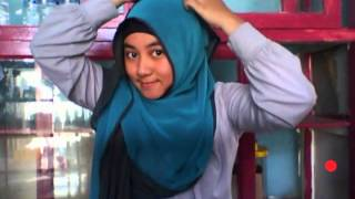 hijab tutorial 1 - two tone shawl