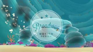 Little Mermaid Scenic Projections: Act 1 Scene 9
