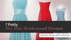 7 Pretty Sky Blue Bridesmaid Dresses Amazon Winter 2017  Collection