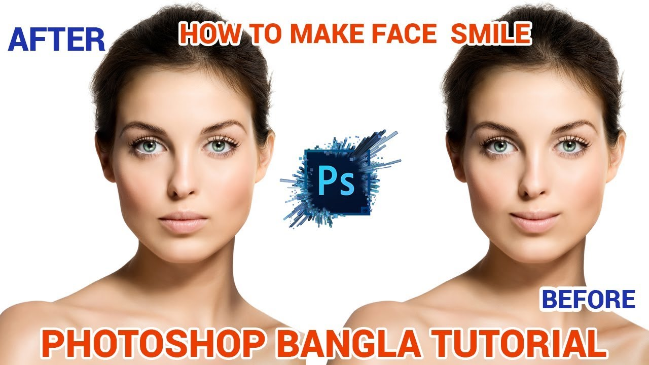 How to make face Smile | Bangla Photoshop tutorial | Photoshop CC