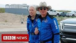Jeff, Bezos, crew, launch, into, space, Shepard, News, BBC news, bbc latest news, current affairs, bbc update, bbc reports, bbc updated news, america latest news, washington news, president news, global news, Jeff Bezos and crew launch into space on New Shepard - BBC News